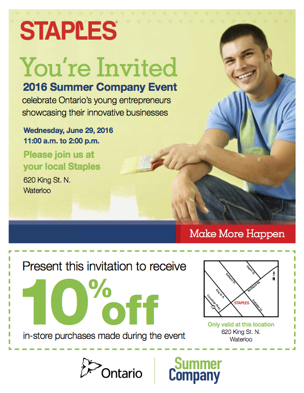 Summer Company Program Event Staples Greater KW Chamber of Commerce Kitchener Waterloo Blog Local