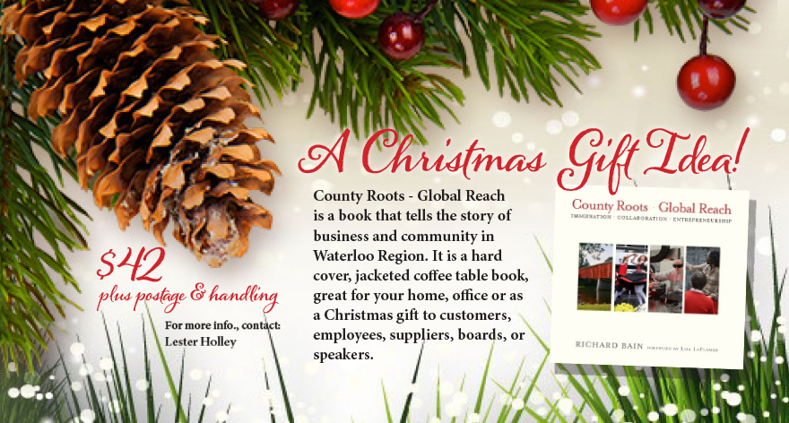 Christmas Gift Idea Greater KW Chamber of Commerce Kitchener Waterloo Blog Book Country Roots Global Reach